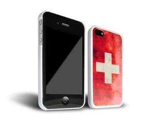 Smartphone-Hülle Schweiz iPhone 4 Weiß