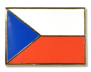 Flaggen-Pins Tschechische Republik (rechteckig)