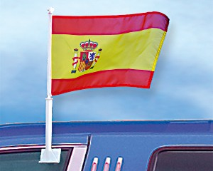 Autoflagge Spanien