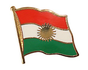 Flaggen-Pins Kurdistan