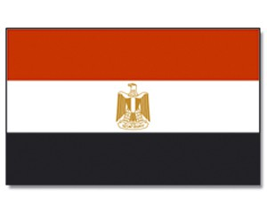 Stock-Flagge Ägypten