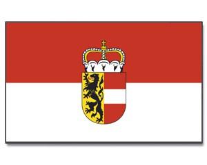 Stock-Flagge Salzburg mit Wappen