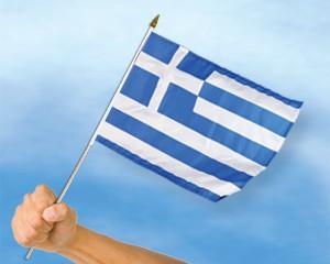 Stock-Flagge Griechenland
