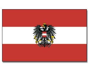 Stock-Flagge Österreich mit Adler