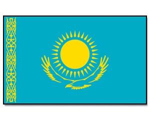 Flagge Kasachstan