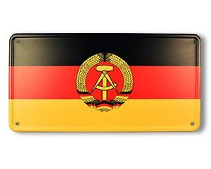 Blechschild DDR