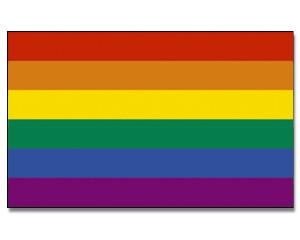 Stock-Flagge Regenbogen