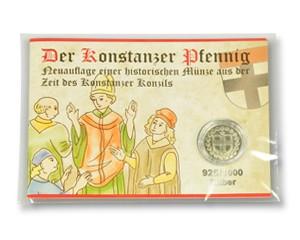 Konstanzer Pfennig Silber im Booklet