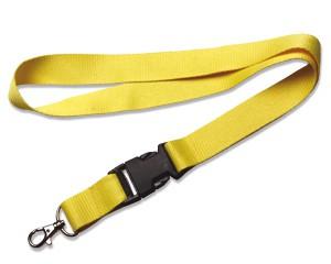 Schlüsselband 25 mm gelb mit KSV