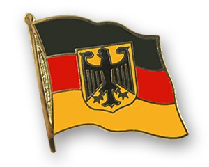 Flaggen-Pins Deutschland mit Adler
