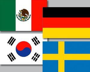 Flaggen Set Fußball WM 2018 Gruppe F