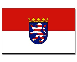 Stock-Flagge Hessen
