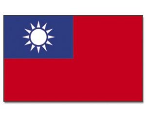 Stock-Flagge Taiwan