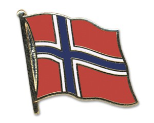 Flaggen-Pins Norwegen