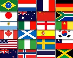 Flaggen Set 24 Frauen Fußball WM 2019