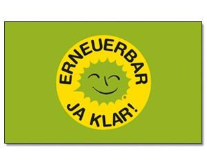 Fahne ERNEUERBAR JA KLAR!