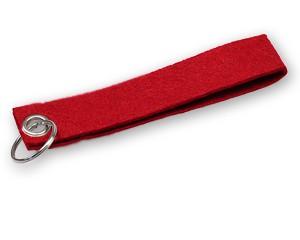 Filz Schlüsselanhänger rot