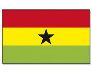 Stock-Flagge Ghana