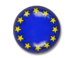 Pins Europa Flagge 9 mm rund