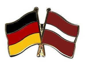 Freundschaftspins Deutschland-Lettland