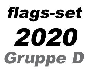 Flaggen-Set Fußball EM 2020 Gruppe D: 4 Flaggen 90 x 150 cm