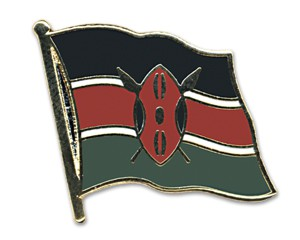 Flaggen-Pins Kenia