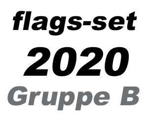 Flaggen-Set Fußball EM 2020 Gruppe B: 4 Flaggen 90 x 150 cm