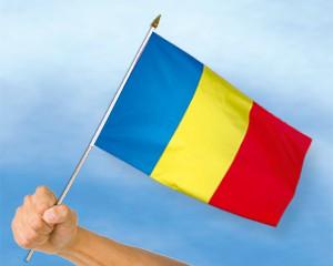 Stock-Flagge Rumänien