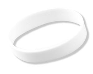 Silikonarmband Weiß