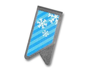 Büroklammer DeltaClips Schneeflocken
