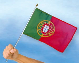 Stock-Flagge Portugal