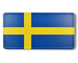 Blechschild Schweden