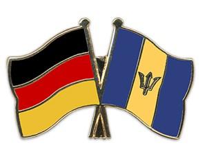 Freundschaftspins Deutschland-Barbados