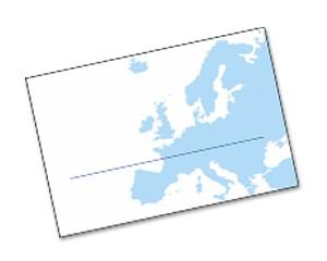 Einlegekarten Landkarte Europa