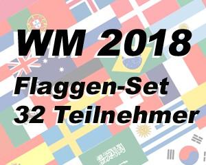 Flaggen Set 32 Fußball WM 2018