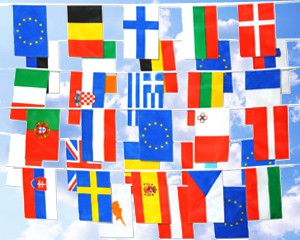 Flaggen Kette 28 EU Mitgliedstaaten