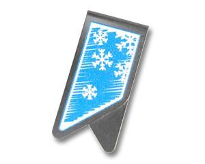 Büroklammer DeltaClips Eisblumen in blau
