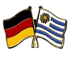 Freundschaftspins Deutschland-Uruguay