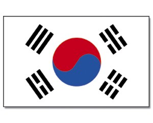 Stock-Flagge Südkorea