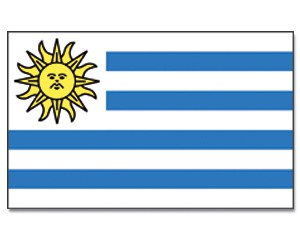 Stock-Flagge Uruguay