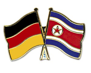 Freundschaftspins Deutschland-Nordkorea