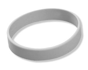 Silikonarmband Grau