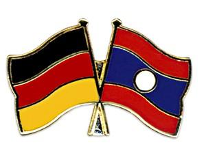Freundschaftspins Deutschland-Laos