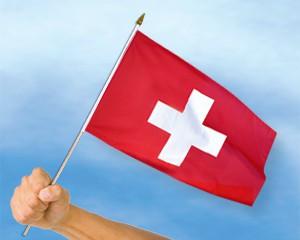 Stock-Flagge Schweiz