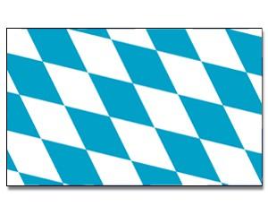 Stock-Flagge Bayern Rauten
