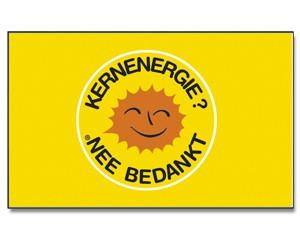 Flagge KERNENERGIE? NEE BEDANKT (niederländisch)