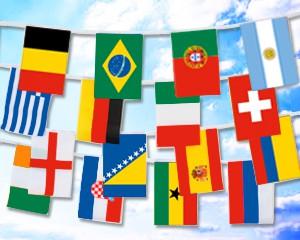 Flaggen Kette Fußball WM 2014 klein