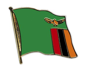 Flaggen-Pins Sambia
