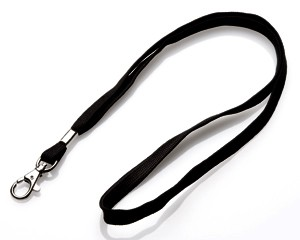Schlüsselband 10 mm schwarz