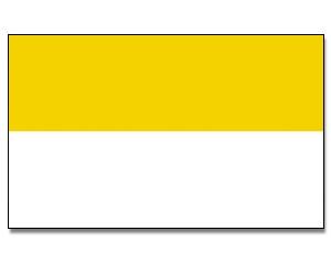 Flagge Kirchenflagge Gelb / Weiß